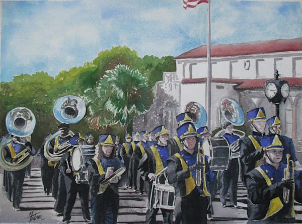 Marching Band 2   Original Watercolor Art | Michele Tabor Kimbrough