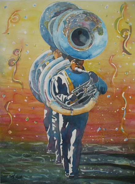 Marching Tubas   Original Watercolor Art | Michele Tabor Kimbrough