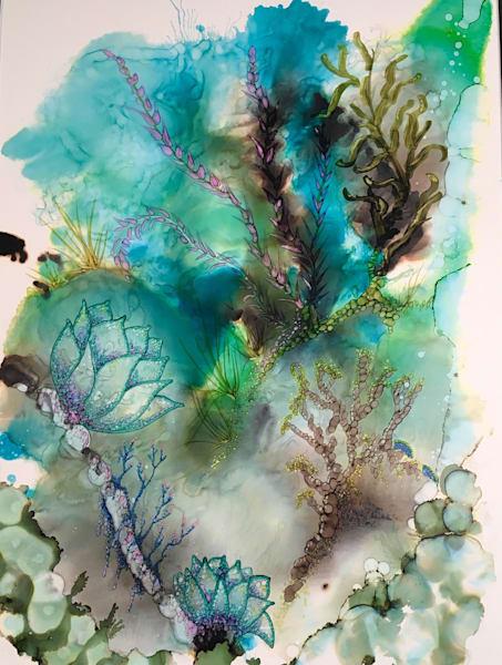 Sea Blossoms Art   Art With Judy Ann
