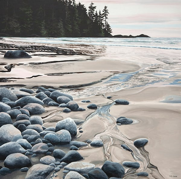 Release, painting inspired by Florencia Bay in Ucluelet