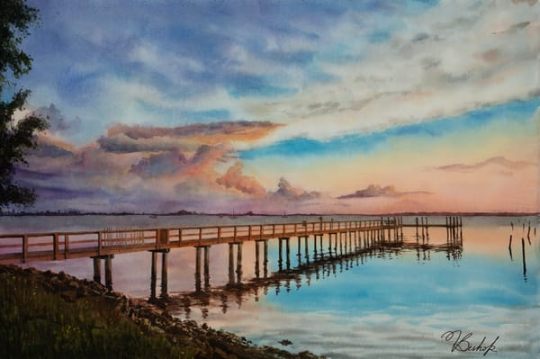 Evening By The Dock Art | victoriabishop.art