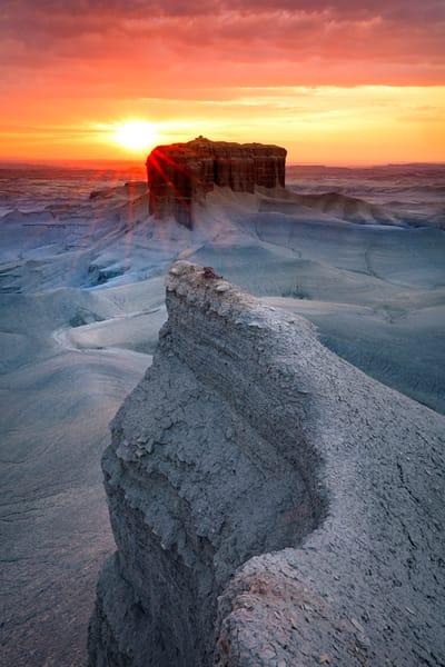 badlands vertical sunrise