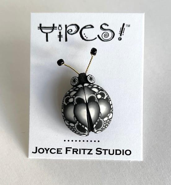 Intricate Black And White Bug Tack Pin | smalljoysstudio