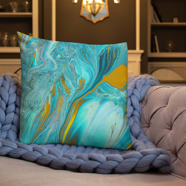 Copper Turquoise Pillow | KD Neeley, Artist