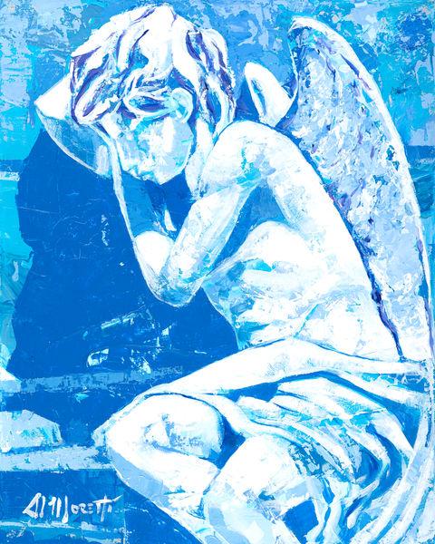 Leaning Angel by Al Moretti