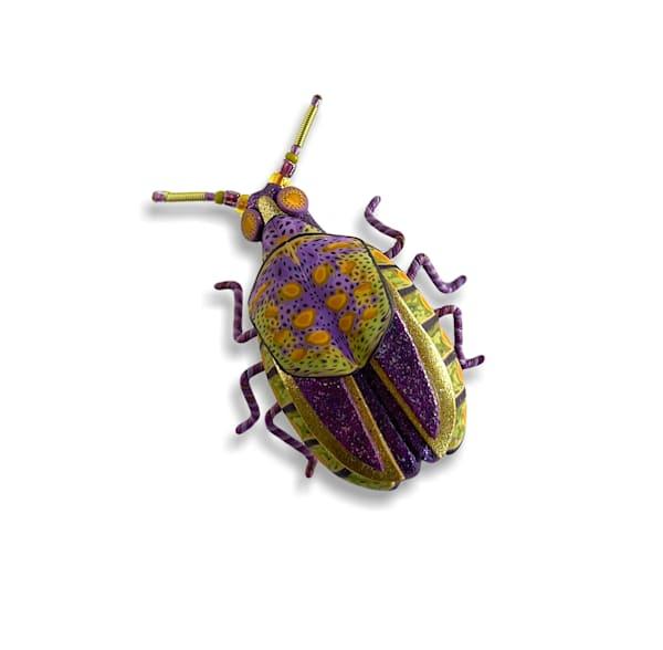 Large Purple Green Beetle Pin | smalljoysstudio