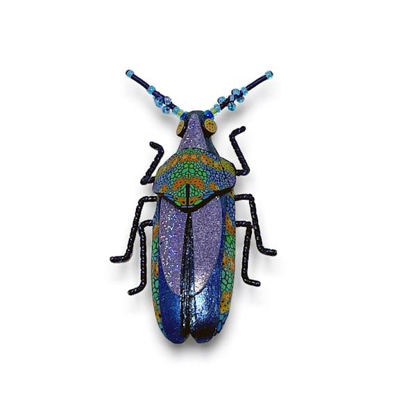Large Purple Blue Beetle Pin | smalljoysstudio
