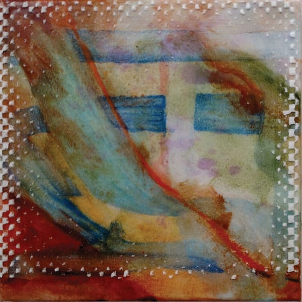 Abstract in Pastels and Rust