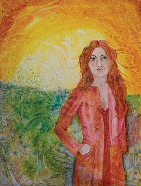 Lady In Red Art | Dena McKitrick