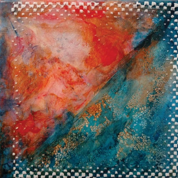 Orange And Turquoise Abstract Art | Dena McKitrick