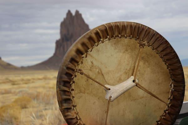 "10"" Elk hand drum by Navajo artisan Paul Tohlakai"