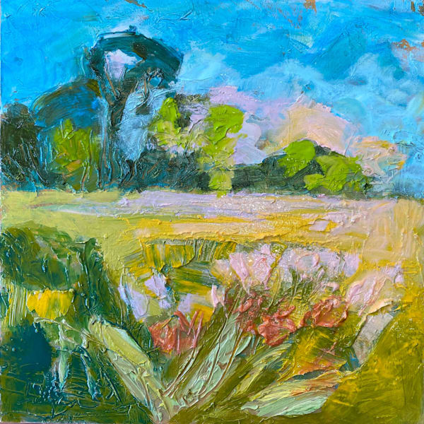 Small Wildflower Painting, Fertile Meadow by Dorothy Fagan