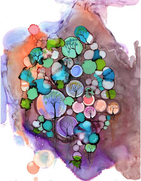 Reflection Of Tree Hds Art | Art With Judy Ann