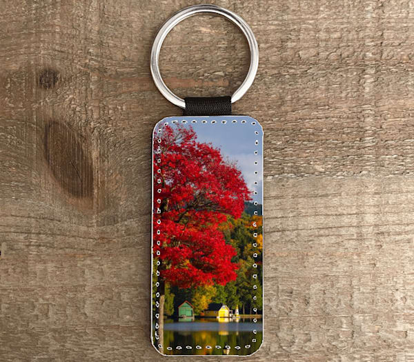 Old Forge Pond Rectangle Keychain | Kurt Gardner Photogarphy