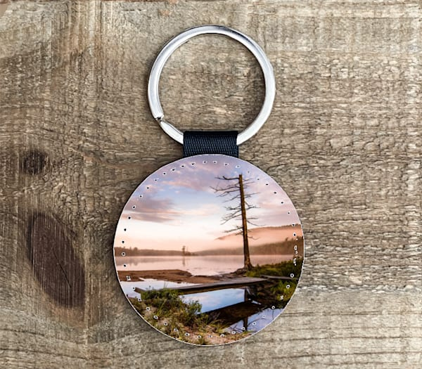 Moss Lake Sunrise Circle Keychain | Kurt Gardner Photogarphy Gallery