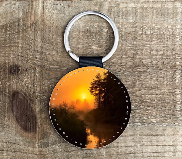 Moose River Circle Keychain | Kurt Gardner Photogarphy