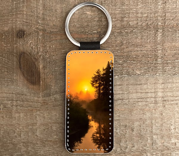 Moose River Sunrise Rectangle Keychain | Kurt Gardner Photogarphy