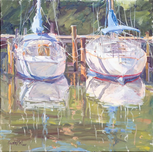 Bow In, painted on location in Solomons Maryland at the Spring Cove Marina.