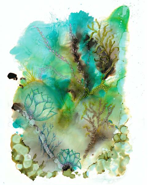 Sea Blossom Hds Art | Art With Judy Ann