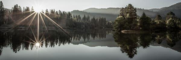 Lewiston Lake   Panorama Art | davinart