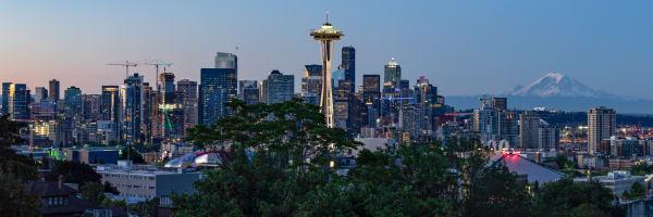 Seattle Morning   Panorama Art   davinart