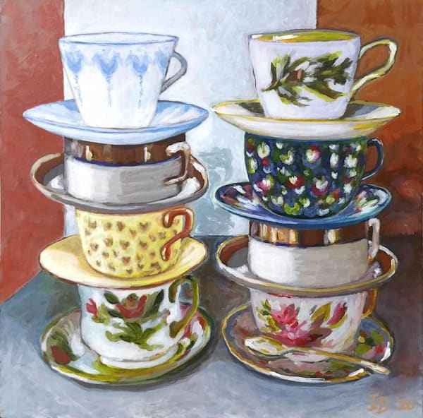 Tea Cups Iii   Coasters, Set Of 4. Art | smalljoysstudio