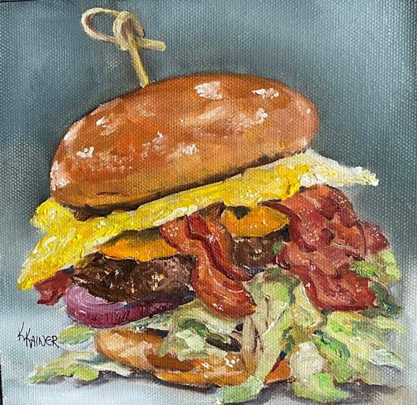 Loaded Hamburger by Food Artist Kristine Kainer
