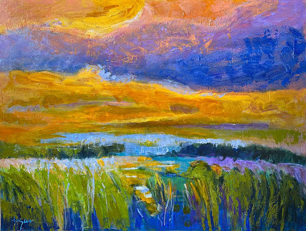 Abstract Water Paintings by Dorothy Fagan
