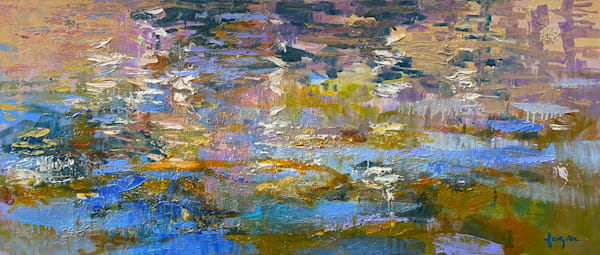 Abstract Landscape, Original Oil Painting by Dorothy Fagan