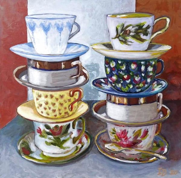 Tea Cups Iii Art | smalljoysstudio