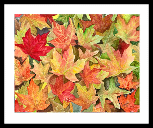 """Fall Vibes"" in Watercolors by Aprajita Lal"
