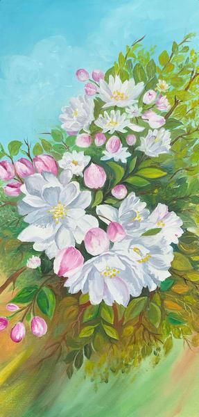 """Cherry Blossom"" in Acrylics by Aprajita Lal"