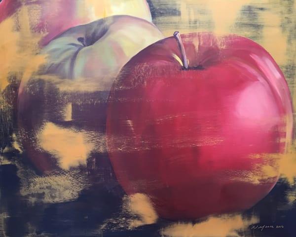 Red Apple Original Art | L3 Art Decor