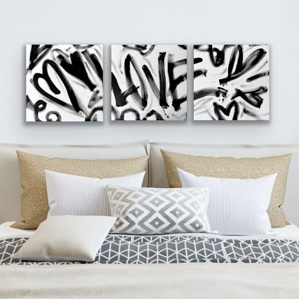 Love, Original Triptych Art | Jessica Hughes Fine Art