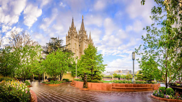 Salt Lake City Temple - Summer Pathway