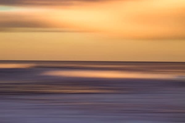 Atlantic Abstract Orange Photography Art | Silver Sun Photography