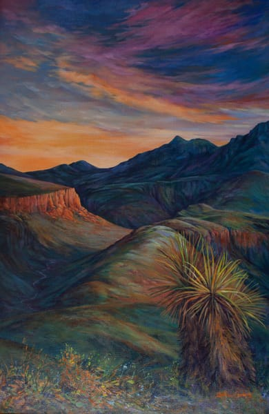 Lindy Cook Severns Art | Sunset on Land Untamed, print