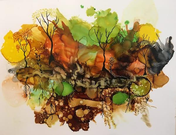 Fall Reflection Art   Art With Judy Ann