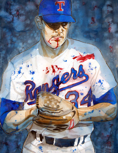 Nolan Ryan   Texas Heat Art | William K. Stidham - heART Art
