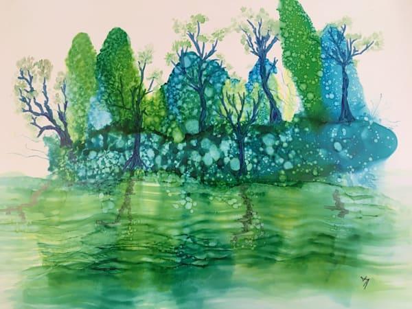 Island Reflection Art   Art With Judy Ann