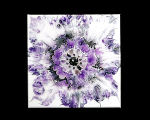 Purple Flower Burst Art   Breathe Art Paintings