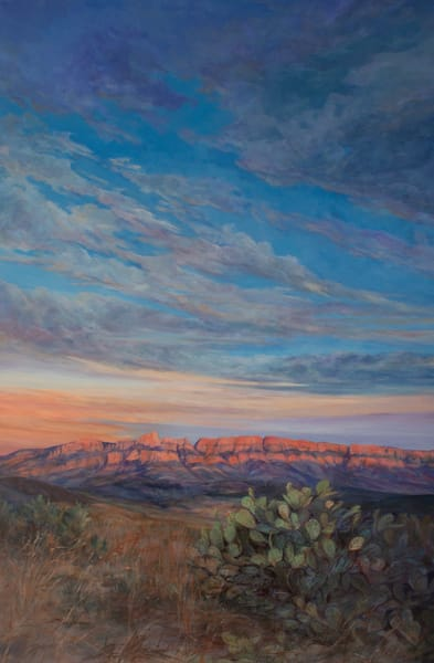 Lindy Severns Art | Sierra del Carmen in the Arms of the Setting Sun, print