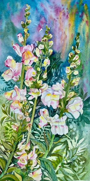 """Enchanting Spring"" in Watercolors by Aprajita Lal"