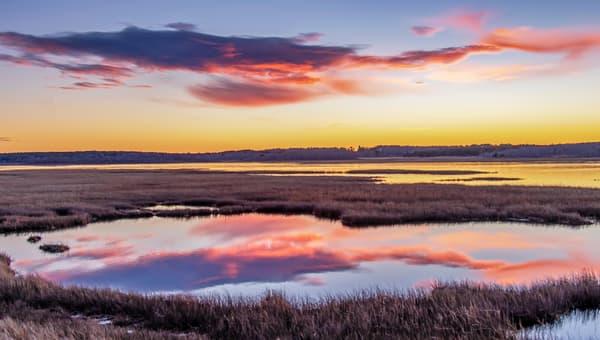 Cape Poge Cloud Refelctions Art | Michael Blanchard Inspirational Photography - Crossroads Gallery