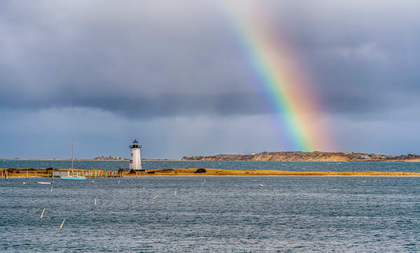Edgartown Light Winter Rainbow Art | Michael Blanchard Inspirational Photography - Crossroads Gallery