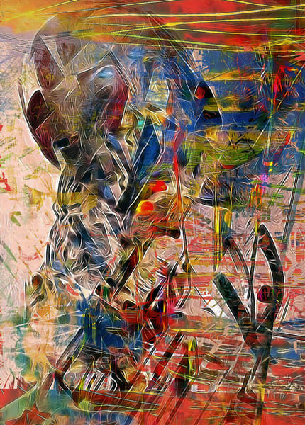 Self Reflection: Looking At My Cyber Hand Art | Maciek Peter Kozlowski Art
