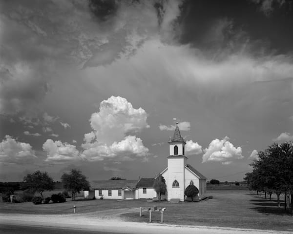 Addicks Methodist Church, 1890, Addicks, Texas (1971) Photography Art | Rick Gardner Photography