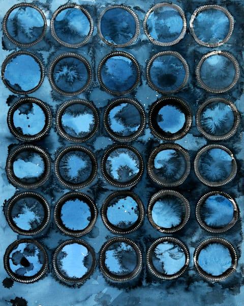 Blue Rings Art | Courtney Miller Bellairs Artist
