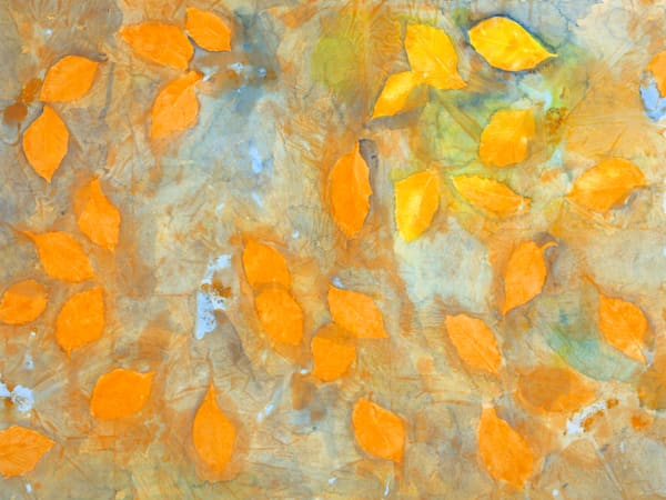 Yellow Leaves Art | Courtney Miller Bellairs Artist