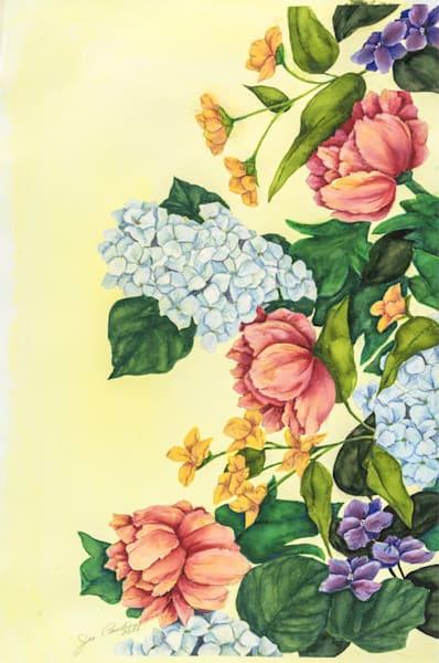 Garden On Yellow 14 2x21 5 Art | capeanngiclee